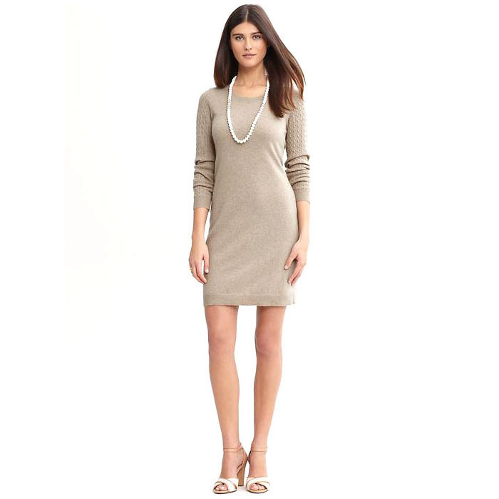 8f75dfbedfc547 Banana Republic Heritage Cable Knit Sweater Dress | cupolathings.com