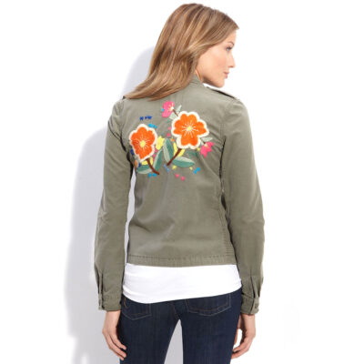 Lucky Brand Embroidered Shirt Jacket, back view