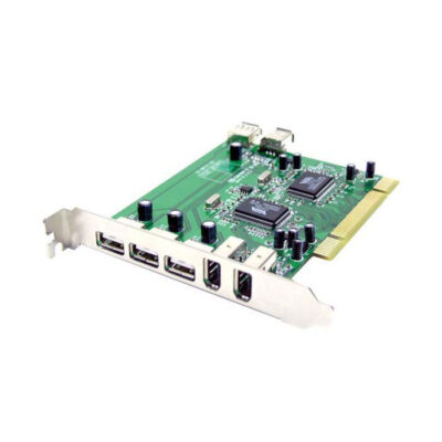 Zonet Combo USB Firewire PCI Card - stock image