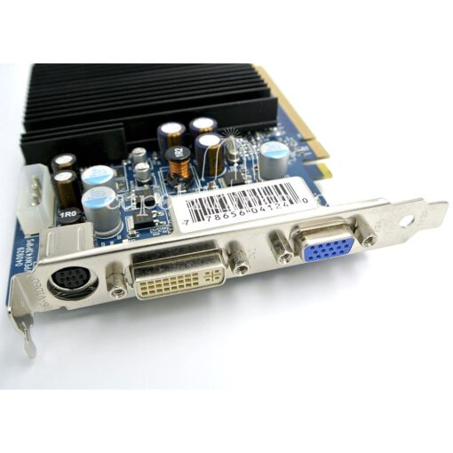 XFX GeForce 6600LE video card - ports view